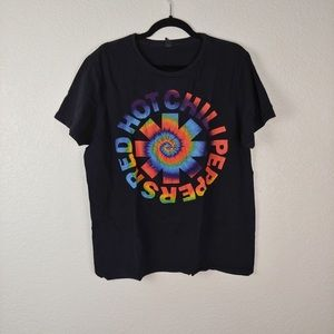 Red Hot Chili Peppers Black Multicolor Graphic Tee Size XL